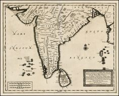 India c.1720  Barry Lawrence Ruderman Antique Maps Inc.