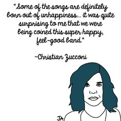 Grouplove's Christian Zucconi  Talks About Image. Illustrations by Jena Ardell for OC Weekly Music. #grouplove #ChristianZucconi #music #quotations #quote #quotes #bluehair