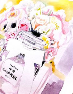 Paper Doll blog, illustration by Melissa Bailey. Chanel No9 perfume bottle