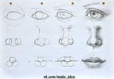 Картинки по запросу профиль лица рисунок