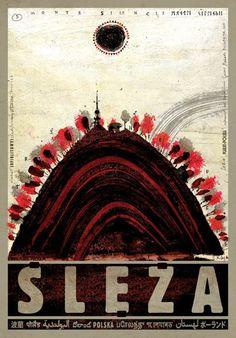 Slęża. Poster by Ryszard Kaja #sleza #poland #poster #polska #pologne #ryszardkaja #seeuinpoland #visitpoland