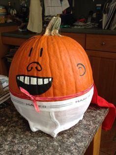 Captain Underpants pumpkin