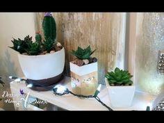 YouTube Suculentas Diy, Cactus Y Suculentas, Planter Pots, Garden, Color, Mayo, Youtube, Craft Flowers, Ideas