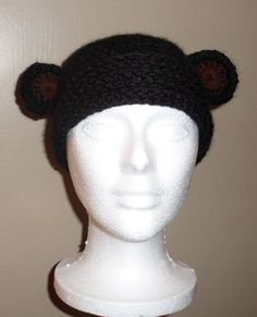 Black Bear Beanie...cute hat!