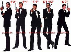 All six James Bond