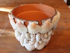 Enjoy the Tranquility of the Beach: Decorate a Terra Cotta Pot with Seashells Tuesday evening, August 14, 2018 7 p.m. to 9 p.m.