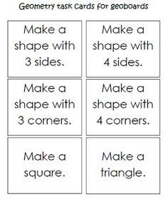 Keen On Kindergarten: Geometry Work Stations
