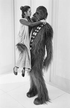 Leia and Chewbacca, off camera.