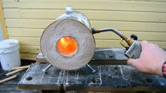 This video shows the build of a simple DIY forge, made from a coffee can and homemade refractory with materials that can