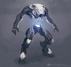 Robot, Andrey Terentev on ArtStation at https://www.artstation.com/artwork/PqNkr