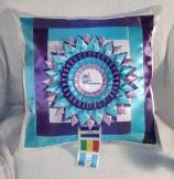 Pretty Pillows made with your horse show ribbons!