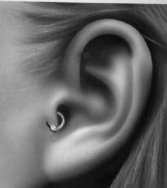 Next piercing: tragus. I thought it would compliment my industrial nicely.