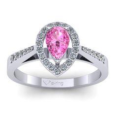 Inel logodna L77ASR cu safir roz si diamante