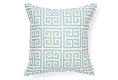 Santorini 16x16 Pillow, Blue/White on OneKingsLane.com
