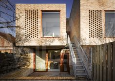 Mews Houses Dublin Ireland Architect Grafton Architects 2009 View of back facades showing cantilever
