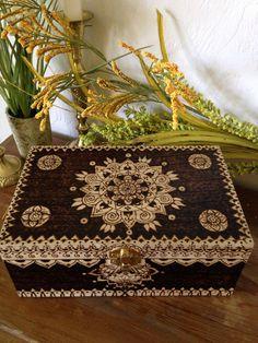 Henna Inspired Storage Box by WildwoodCharm on Etsy https://www.etsy.com/listing/226304167/henna-inspired-storage-box