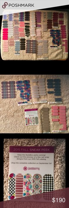 Jamberry Partials Nail Wraps Lot - Retired HTF This listing is for Jamberry Partial Nail Wraps Lot.  Many are retired and hard to find!  Wraps are in great shape!  They were stored properly and in sealed bags.  Below is a list of what you will get (quantities are individual wraps - not sheets)  I will post the details in the comments as it is too long for this field.  Free Shipping! Jamberry Other