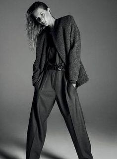 Gisele também está na campanha de inverno 2014/2015 da estilista francesa Isabel Marant. Num dos cliques, a modelo aparece em versão andrógina, com look de alfaiataria Foto: Divulgação