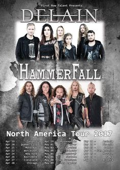 GoRockfest.Com: DELAIN Tour Dates 2017