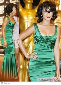 Rihanna in Dolce & Gabbana Emerald Gown