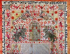 Lessingimages.com - Ketubah, a Jewish marriage contracKetubah, a Jewish marriage contract from Persia. This contract of marriage is decorated with a traditional Persian symbol,the half-moon rising over lions. From Persia. Watercolour on paper, 95 x 68 cm t from Persia.