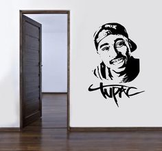 2Pac TUPAC SHAKUR Vinyl Wall Art Sticker If I ever get my own place I'm definitely putting these up ヾ(@°▽°@)ノ