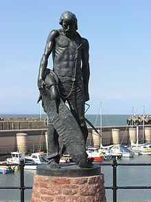 A statue of the Ancient Mariner with the albatross around his neck. Watchet, Somerset ~ Samuel Taylor Coleridge