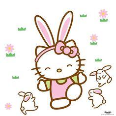 Hello Kitty with bunnies