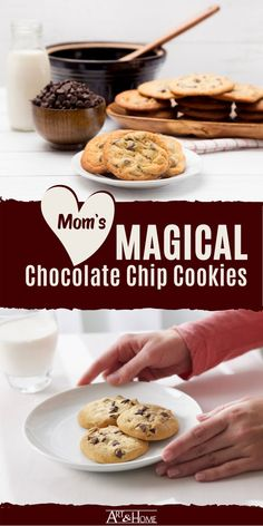 This was my Mom's go-to recipe for chocolate chip cookies, and we always devoured them as soon as they plate hit the table. Healthy Chocolate Chip Cookies, White Chocolate Chips, Cereal Recipes, Cookie Recipes, White Chocolate Macadamia, Secret Recipe, Delicious Chocolate, No Bake Cookies, Flakes