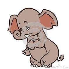 Elephant cartoon illustration isolated image animal character
