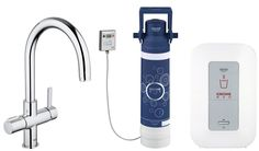 GROHE 30058000 Red Duo Kitchen Tap and Single-Boiler (4 litres): Amazon.co.uk: DIY & Tools