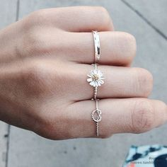 dainty silver rings