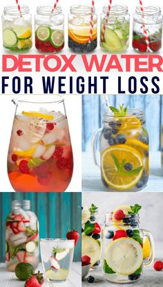 The Best Detox Water Weight Loss Recipes: 20 Flat Belly Detox Drinks - D . - The Best Detox Water Weight Loss Recipes: 20 Flat Belly Detox Drinks – Detox Recipes – # - Lemon Ginger Detox Water, Best Detox Water, Detox Water For Clear Skin, Strawberry Detox Water, Fruit Detox, Detox Foods, Acne Detox Water, Strawberry Lemon Water Recipe, Detox Water For Bloating
