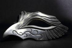 オペラマスク-鷹- by 造型作家集団chevalier アート Skull Mask, Mask Design, Diy Mask, Head Accessories, Mask Ideas, Fancy Dress, Dress Making, Headdress, Masquerade