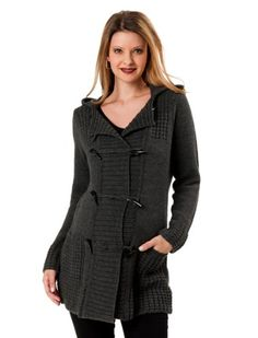 A Pea in the Pod Collection: Toggle Closure Wool Maternity Sweater Coat $99.99