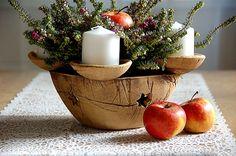 Keramika u Lavender Primitive Christmas, Country Christmas, Christmas Tree, Ceramic Christmas Decorations, Advent Candles, Ceramic Pottery, Serving Bowls, Planter Pots, Candle Holders