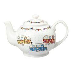 Queens White 'Festival Caravans' teapot- at Debenhams Mobile