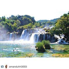 #Repost @amanduhh3003 #tbt to when I swam under a waterfall in Croatia #krka #krkanationalpark #croatia #waterfalls #livinthedream #vsco #studyabroad #ispyAPI