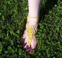 barefoot sandal tatted barefoot sandal lace barefoot by MamaTats  Use coupon code PINTEREST for 10% off!
