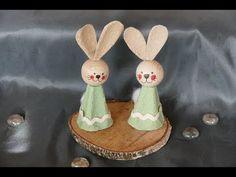 Frühlingsbasteln – Osterbasteln – Osterhase basteln – super einfach - YouTube