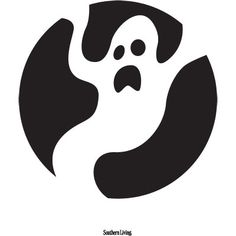 Ghost Pumpkin Carving Templates < 10 Easy Printable Pumpkin Carving Patterns - Southern Living