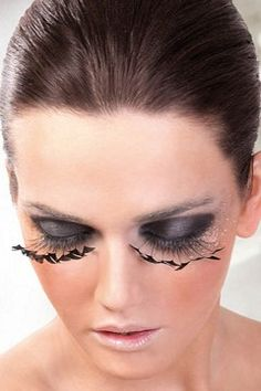 Paradise Dreams - Black Feather Eyelashes 608 - Baci EyelashOnline retailer of dance accessories, ballroom dance supplies and discount dance supply Feather Eyelashes, Fake Eyelashes, False Lashes, East Coast Fashion, Henna Brows, Beauty Lash, Theatrical Makeup, Lingerie Accessories, Perfect Eyebrows