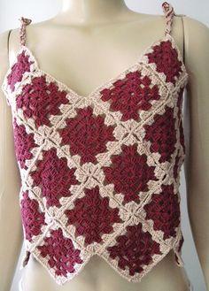 Crochet Bra, Crochet Blouse, Crochet Clothes, Crochet Earrings Pattern, Crochet Patterns, Knit Slippers Free Pattern, Crochet Summer Tops, Crochet Jacket, Crochet Embellishments