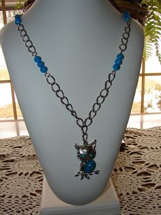 This was made from various upcycled bits of outdated jewelry from several friends.