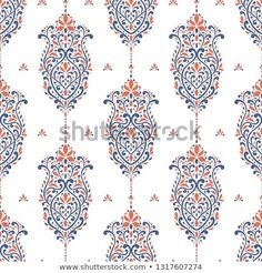 Find Blue Orange Vintage Vector Seamless Pattern stock images in HD and millions of other royalty-free stock photos, illustrations and vectors in the Shutterstock collection. Textile Pattern Design, Textile Patterns, Textile Prints, Pattern Art, Print Patterns, Stencil Patterns, Pattern Designs, Art Designs, Textiles