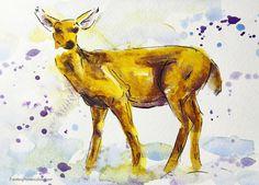 Jennifer Branch - 12 Days of Christmas Cards, Deer. Tutorial on her website.