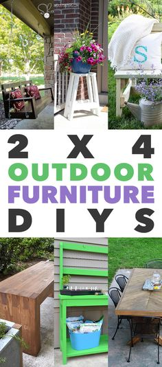 Fabulous Outdoor Furniture You Can Build With 2X4s