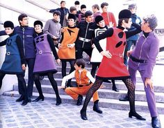 Pierre Cardin iconic designs from the 1960s...
