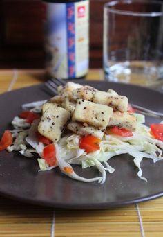 Tofu alla salsa di soia impanato con chia seeds | Ricette con i semi di chia
