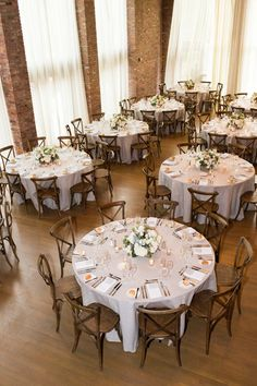 Rustic & Elegant Round table setting
